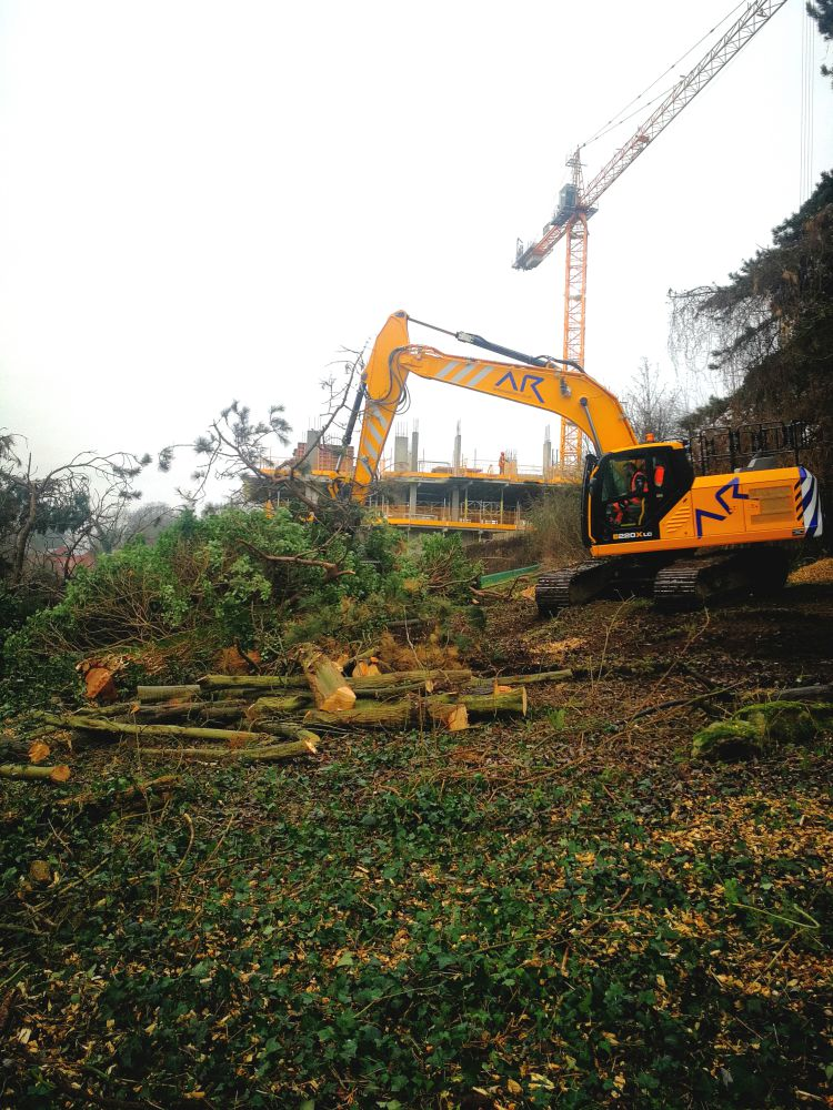 Gimbles Tree Works with a digger at Redrow Maidstone
