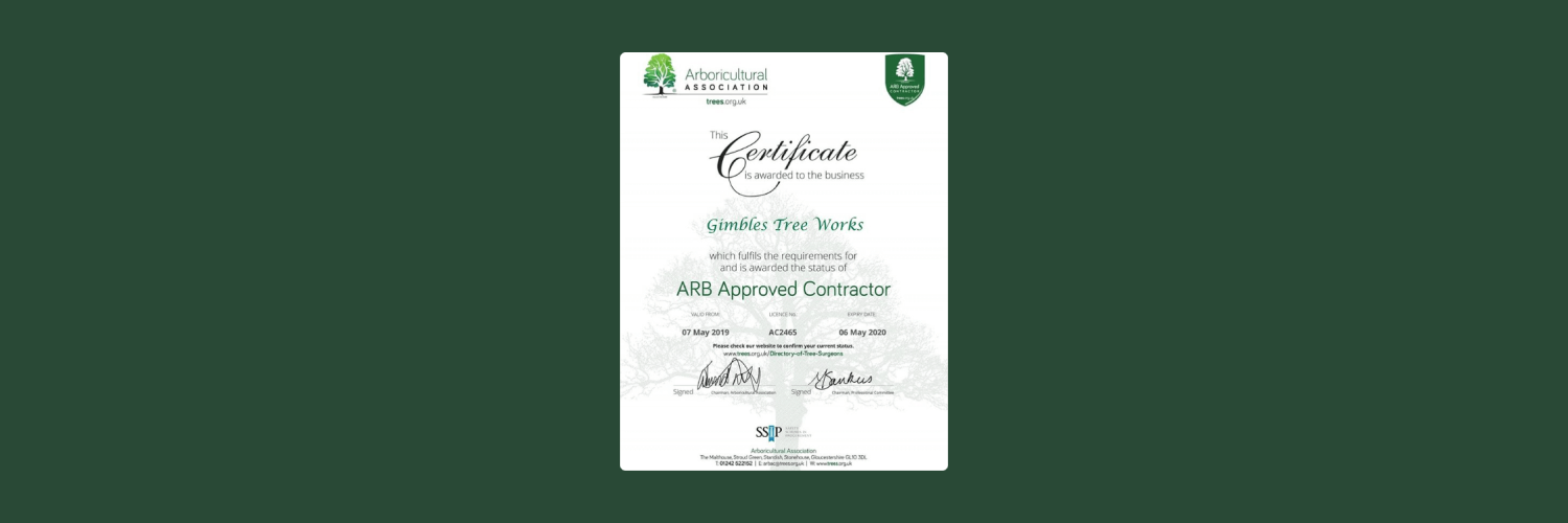 ARB approved contractor certificate